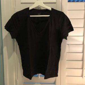 Madewell black V neck tee